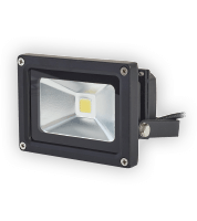 10W 6000K LED Square Floodlight - Black