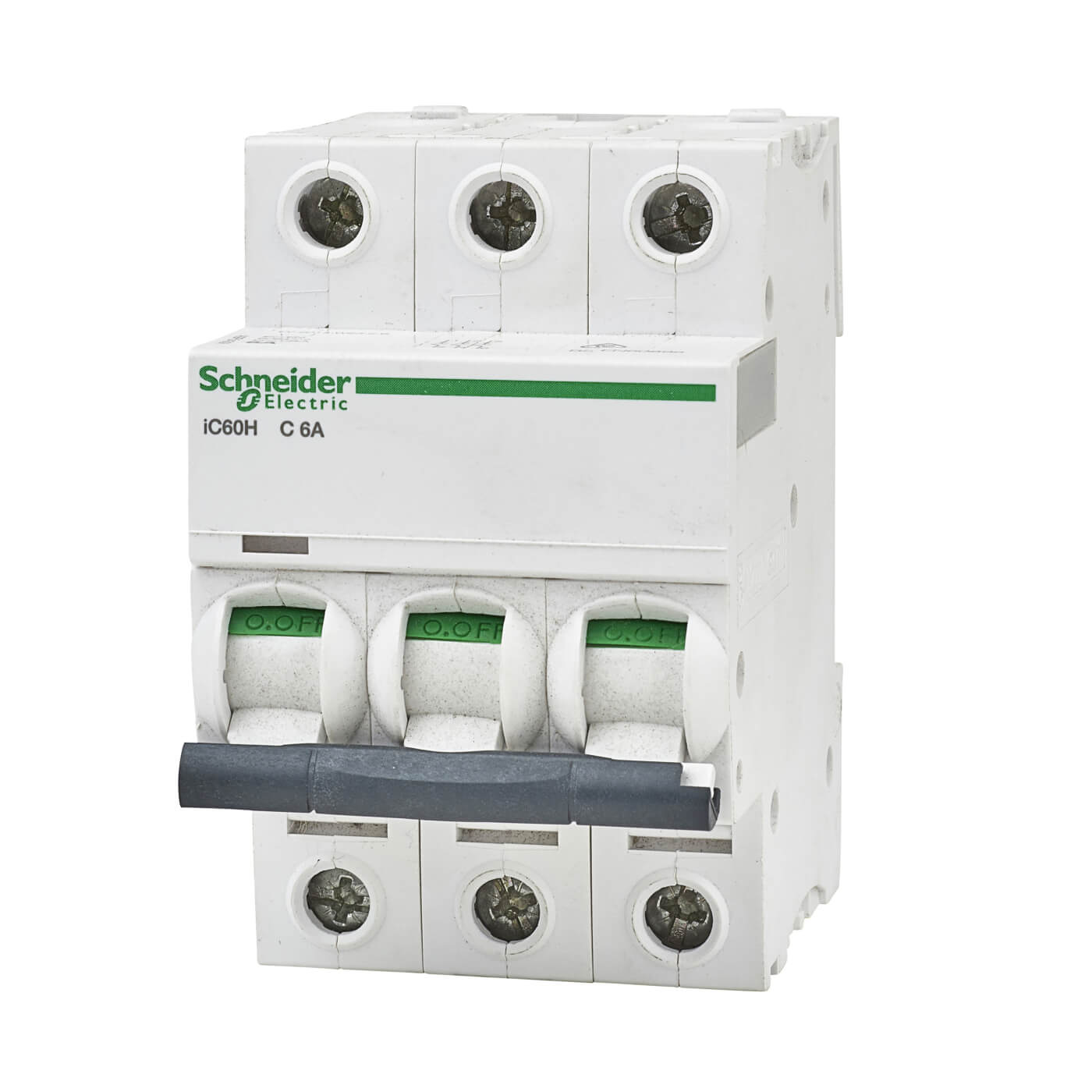 Schneider Acti 9 Isobar 6a 10ka Triple Pole 3 Phase Mcb