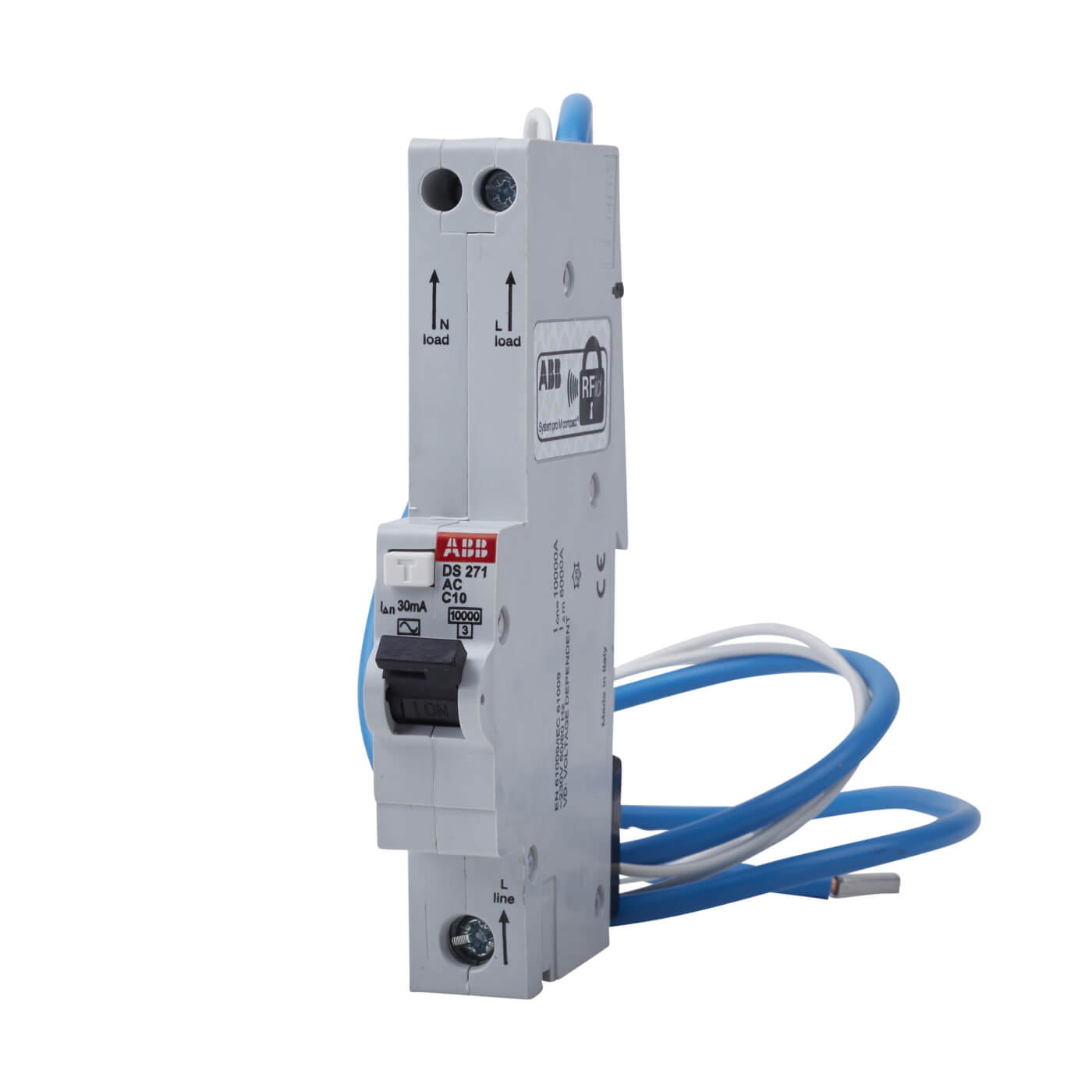 Abb 10a 30ma 10ka 1 Module 3 Phase Rcbo Type C Electricaldirect Wiring Of The Distribution Board With Rcd Single Back