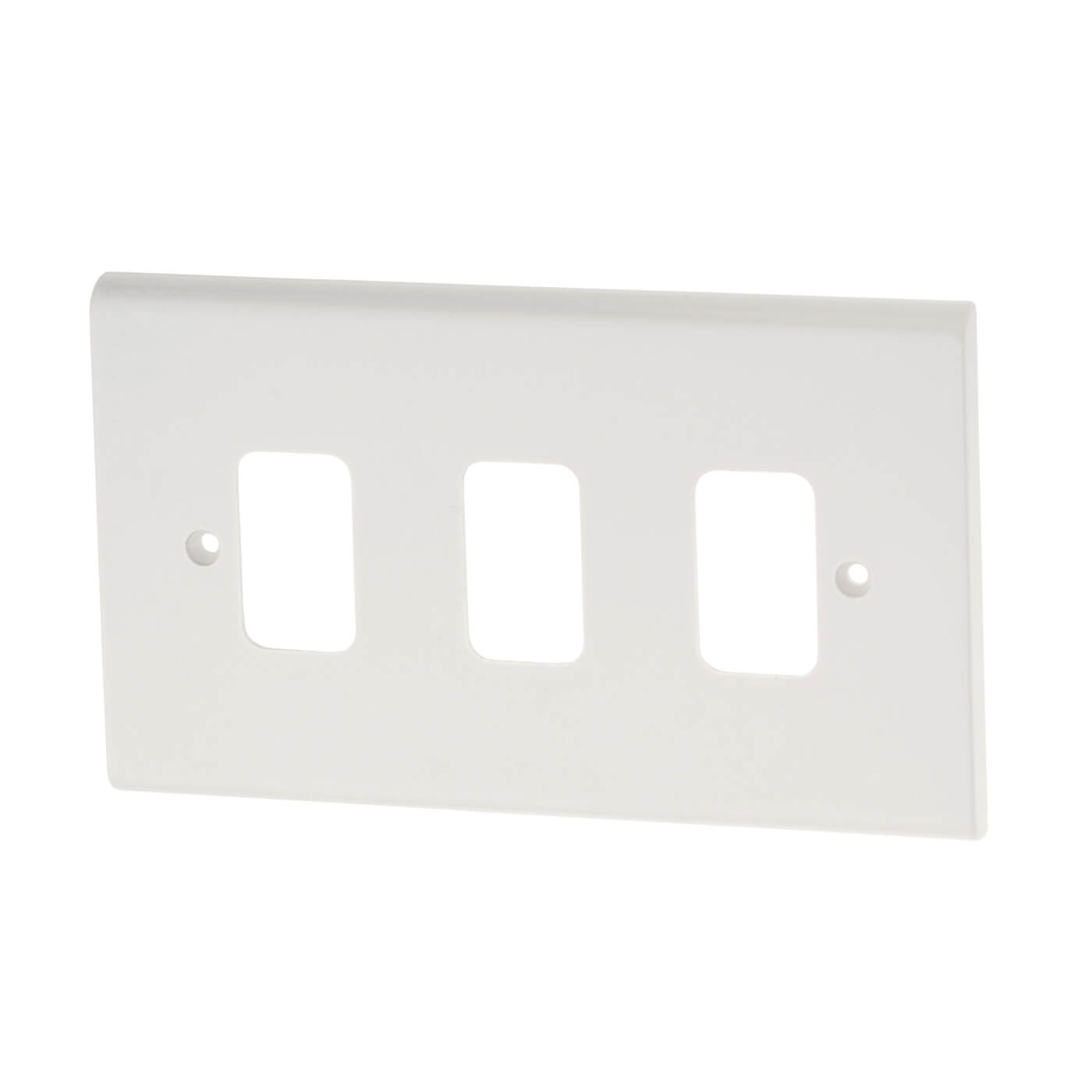 Deta 3 Gang Grid Front Plate White Electricaldirect 2 Way Switch Twin And Earth Back
