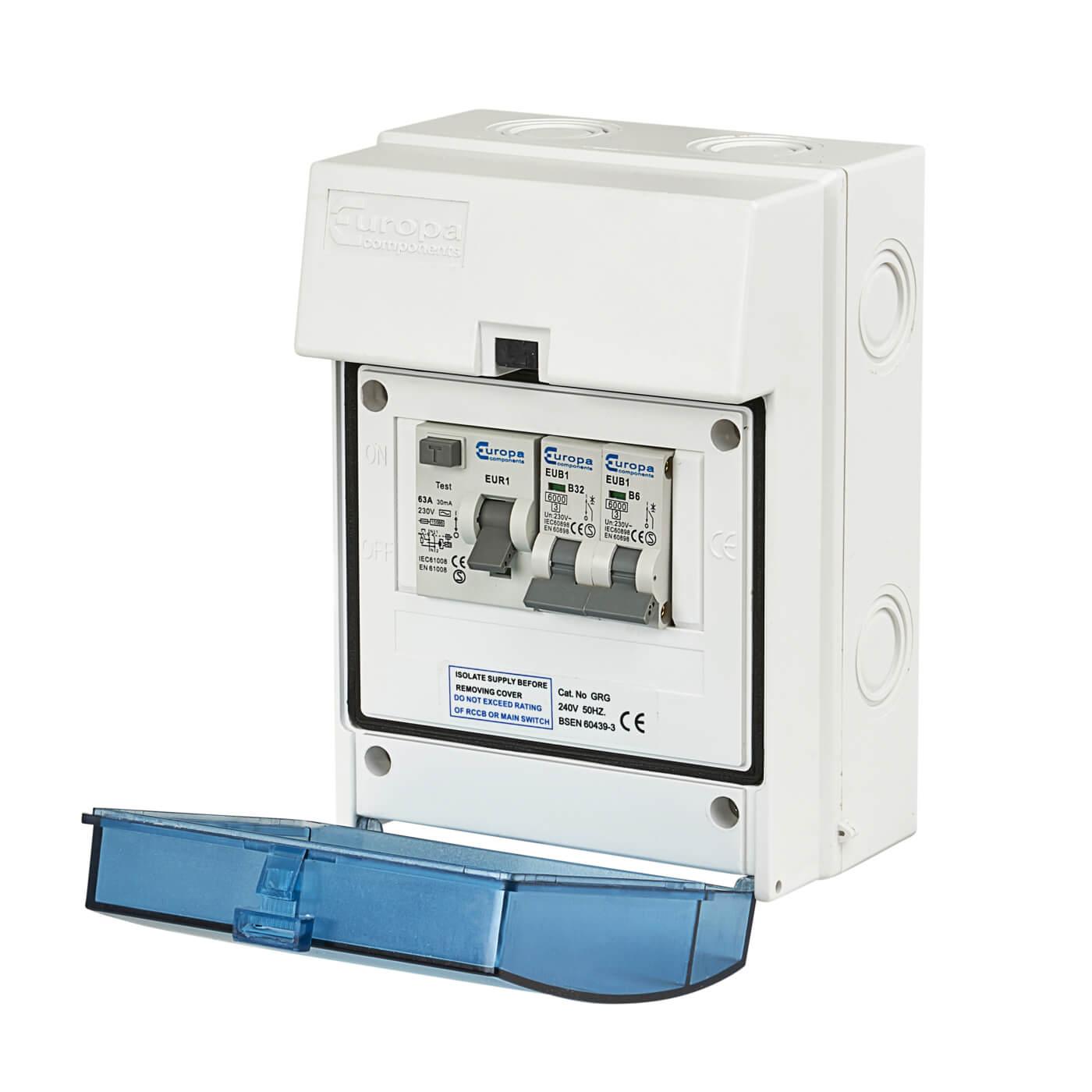 63a Rcd 6a 32a Mcb Main Switch Work Garage Unit Electricaldirect Wiring A British General Consumer Back