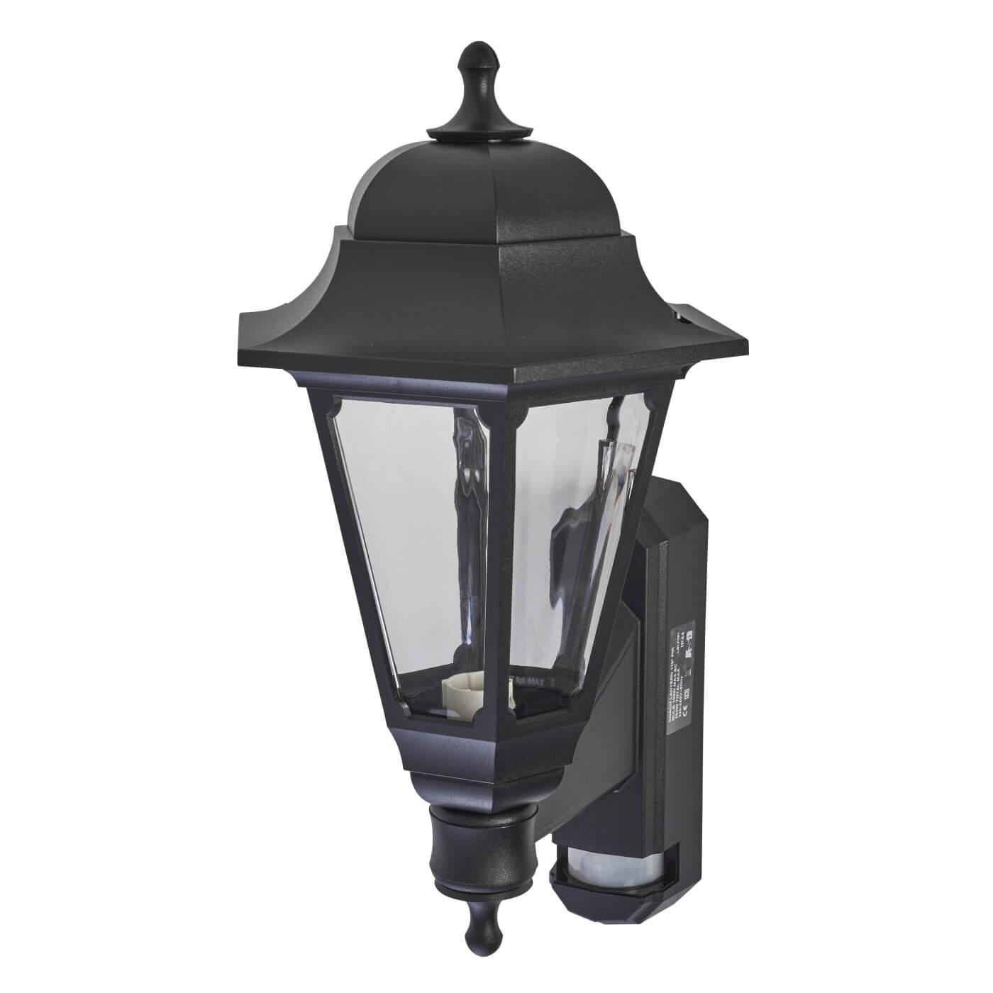 Asd Coach Pedestal Lantern: ASD Lighting Coach Lantern With PIR - Black