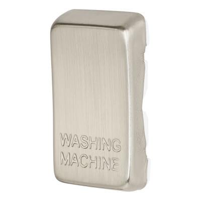 BG Printed Switch Module Cover - Washing Machine - Brushed Steel)