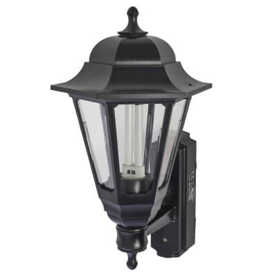 ASD Lighting 9W Coach Lantern with Photocell - Black)