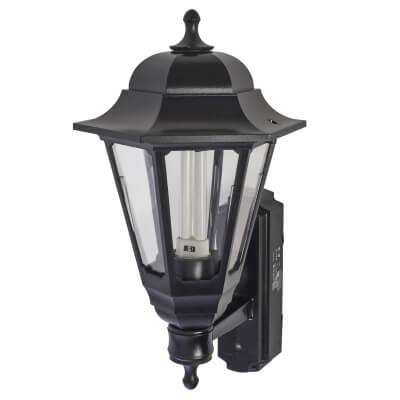 ASD Lighting 9W Coach Lantern with Photocell - Black)