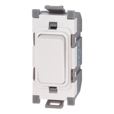 Deta 10A 2 Way Single Pole Grid Switch - White)
