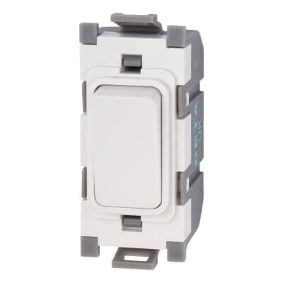 Deta 10A 2 Way Single Pole Switch Module - White