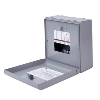 Eaton MEM 125A 4 Way Single Phase Distribution Board - Type A)