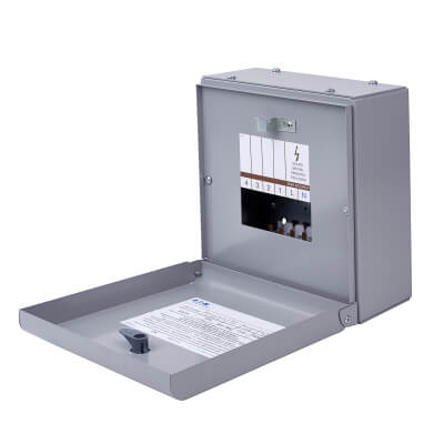 Eaton MEM 125A 4 Way Single Phase Distribution Board - Type A