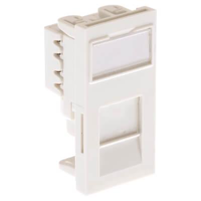 Ultima Low Profile Module Cat6 Euro Unshielded PCB - White