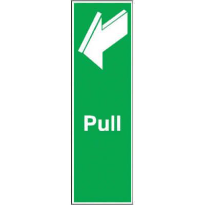 Pull Sign - 150 x 50mm - Rigid Plastic