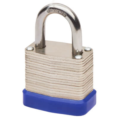 Laminated Padlock - 30mm - Keyed to Differ