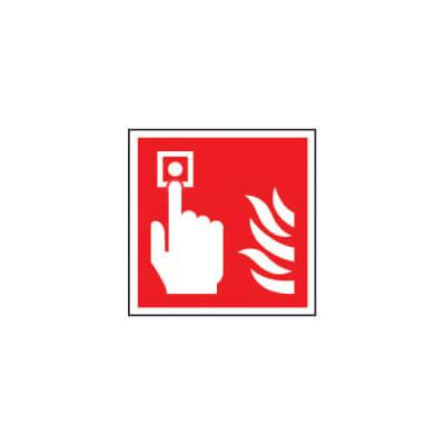 Fire Alarm Symbol - Size 200 x 200mm - Rigid Plastic