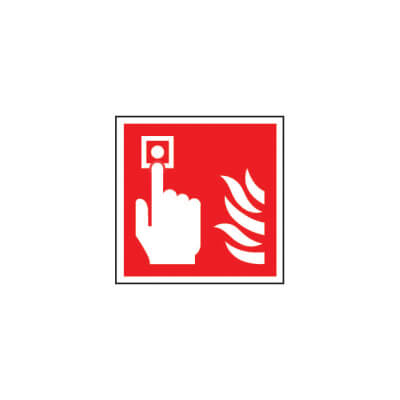 Fire Alarm Symbol - 200 x 200mm - Rigid Plastic