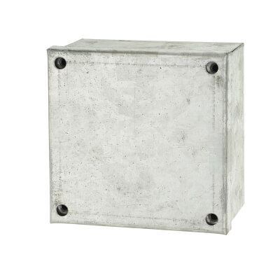 Adaptable Back Box with Knockouts - 4 x 4 x 2 Inch - Galvanised