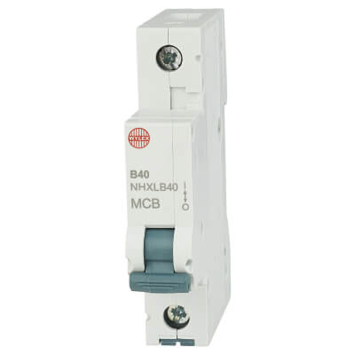 Wylex 40A NH Single Pole MCB - Type B)