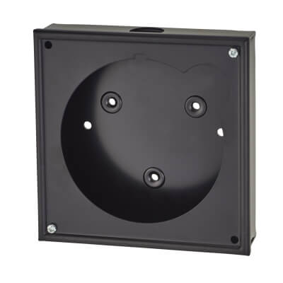 Sangamo Timed Fused Spur Mounting Box - Black)