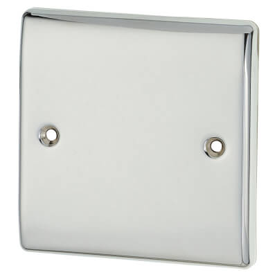 BG 1 Gang Blank Plate - Polished Chrome