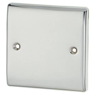BG 1 Gang Blank Plate - Polished Chrome