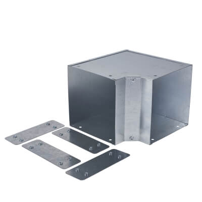 Internal Square Bend - 90° - 150 x 150mm - Galvanised