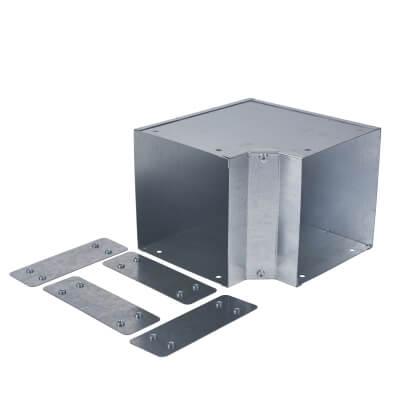 Internal Square Bend - 90° - 150 x 150mm - Galvanised