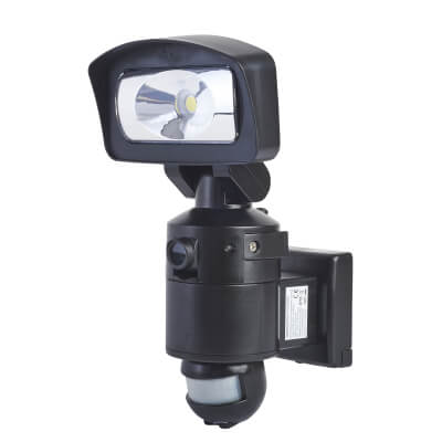 16W LED Light and HD Camera 4GB SD - Black