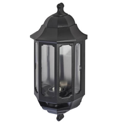 ASD Lighting Half Coach Lantern - Black)
