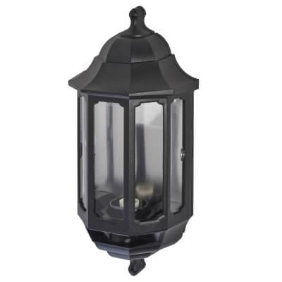 ASD Lighting Half Coach Lantern - Black)