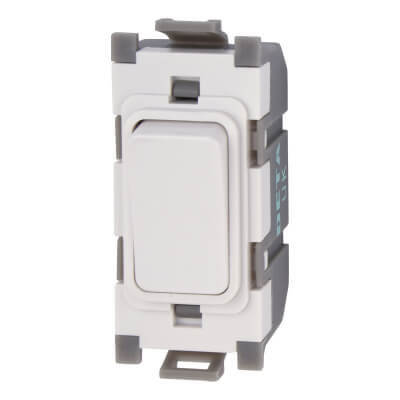 Deta 10A 1 Way Single Pole Switch Module - White