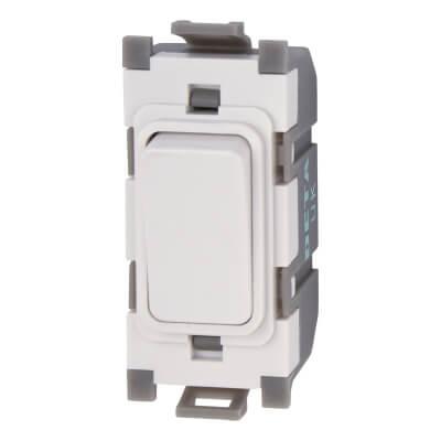 Deta 10A 1 Way Single Pole Switch Module - White