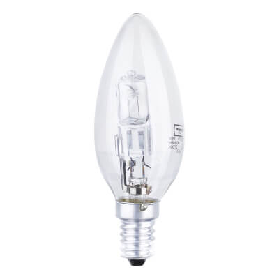 28W SES Halogen Candle Lamp - Clear