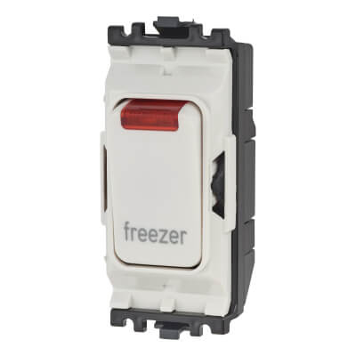 MK Printed Grid Switch - Freezer - White