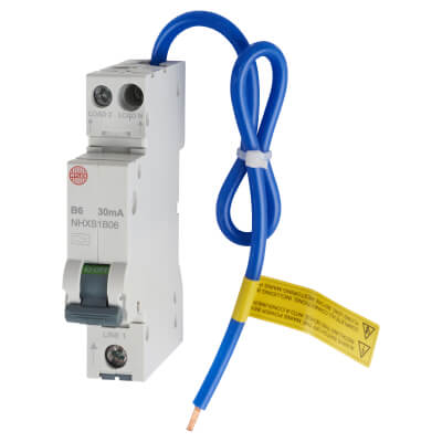Wylex 6A 30mA Single Pole RCBO - Type B)