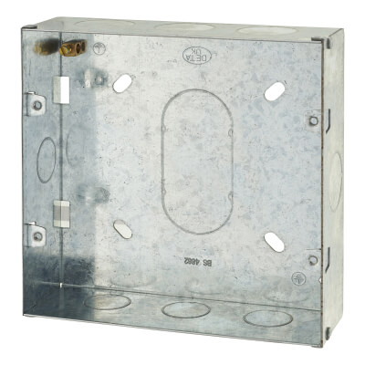 6-8 Gang Flush Metal Grid Back Box)