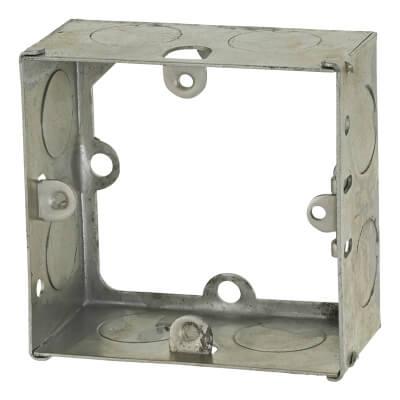 1 Gang Knockout Flush Extension Box - 35mm - Galvanised)