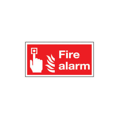 Fire Alarm - 100 x 200mm - Rigid Plastic