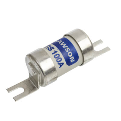 Lawson 400/415V TIS Offset Tag Industrial Fuse-Link with Bolt Connections - 100A