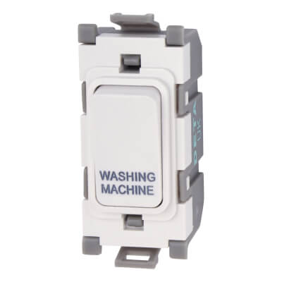 Deta 20A Printed Grid Switch - Washing Machine - White)