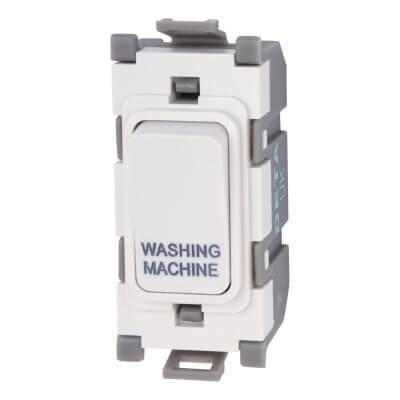 Deta 20A Printed Grid Switch - Washing Machine - White)