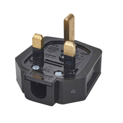 MK Duraplug 13A Rubber Plug Top - Black