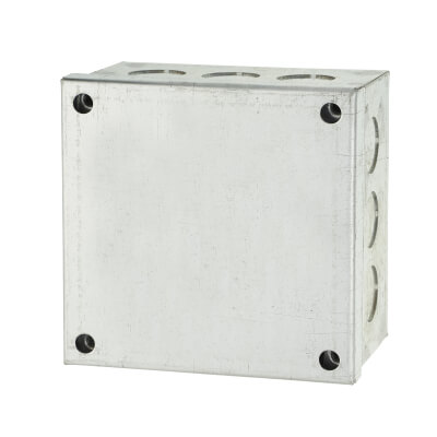 Adaptable Back Box - 4 x 4 x 2 Inch - Galvanised