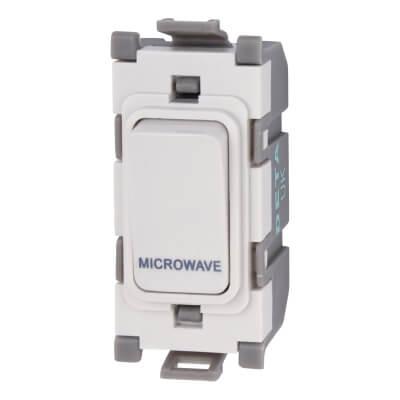 Deta 20A Printed Switch Module - Microwave - White