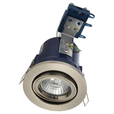 Forum Yate Adjustable LED Fire Rated Downlight - Satin Chrome)