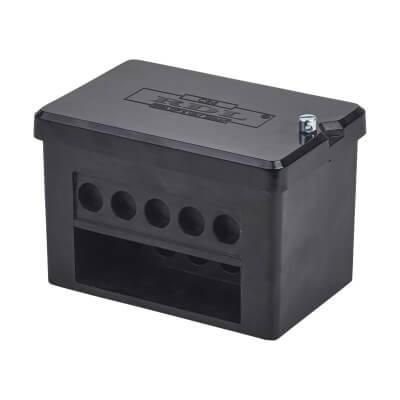 100A Double Pole 5 Way Connector Block - Black