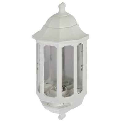 ASD Lighting Half Coach Lantern - White)