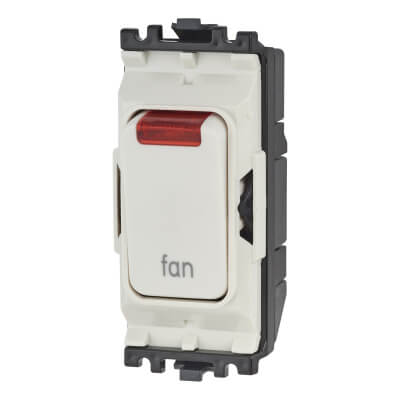 MK Printed Grid Switch - Fan - White