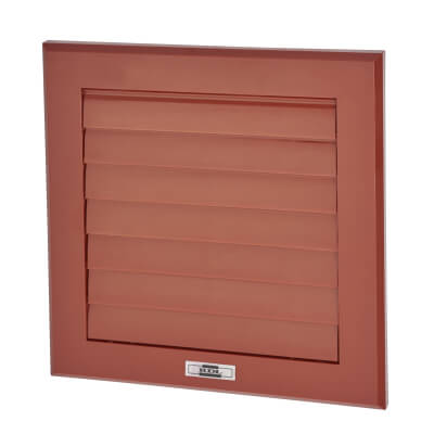 Manrose 150mm Wall Gravity Grill - Terracotta
