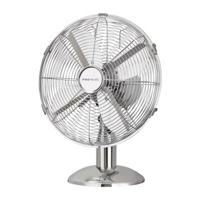 12 Inch Desk Fan - Chrome