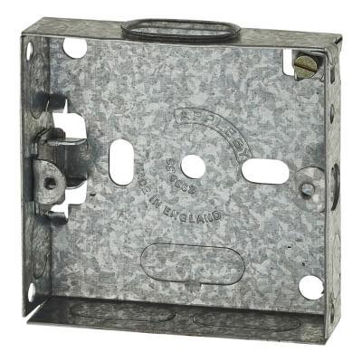 1 Gang Flush Knock Out Back Box - 16mm - Galvanised