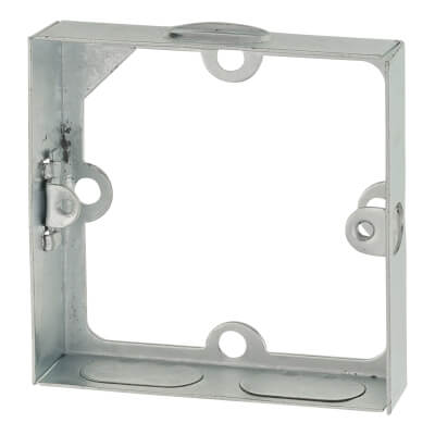 1 Gang Knockout Flush Extension Box - 16mm - Galvanised)